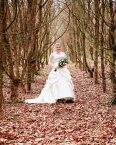 bride in the woods (1)