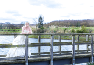 bride on long jetty